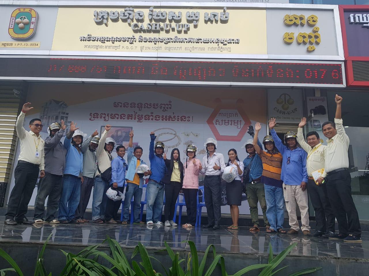 Cash-U-Up team up to promote road safety for everyone in Cambodia
